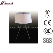 Hotel off-White Fabric Tripod Silver Reading Indoor Lighting