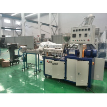 co-rotating parallel laboratory twin screw plastic granulating extruder