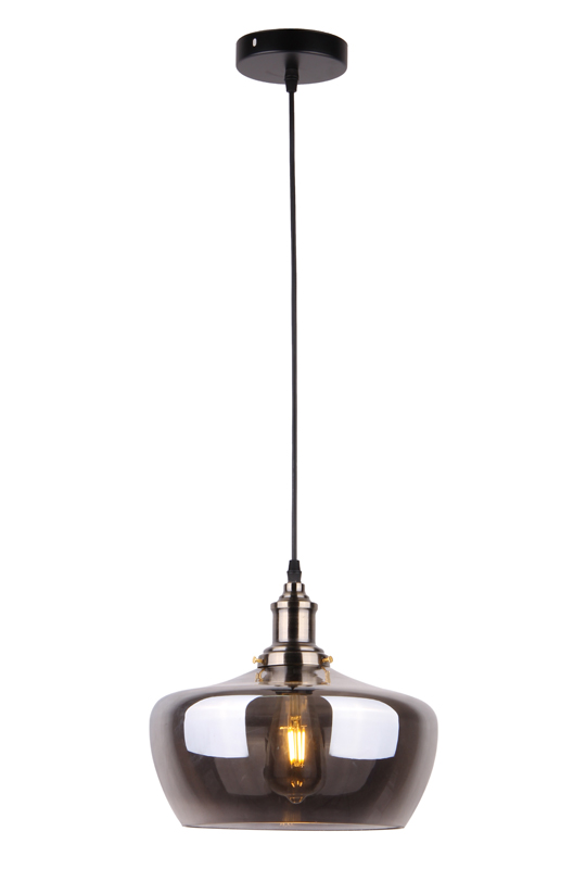 Pendant Glass Lamp Grey