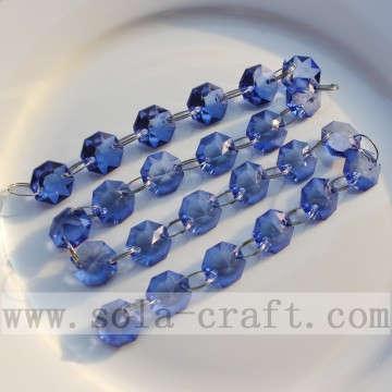 Royal Blue Crystal Octagon Perlen Strings Vorhang Ketten
