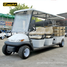 Electric Fuel Type 48V 4 persons Seaters with functional cargo golf cart for sale