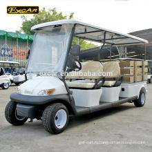 Тип электрический топливный 48В 4 человек сидящих с функциональной тележки грузовые для гольфа на продажу