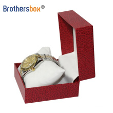 Custom logo paper boxes single folding magnetic watch storage box with strap