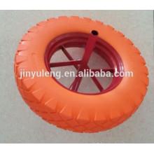 Pretty colorful PU foam wheel barrow tires and rims 480/400-8