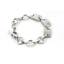 Bracelet en cristal inox en acier inoxydable en gros avec bracelet en zircon