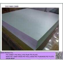 Hoja de PVC blanco opaco en relieve para impresión en offset