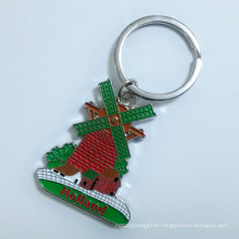 Netherlands Premium Tourist Engrave Logo Windmill Color Key Ring (F1405)