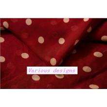 New Polka DOT Printed 100% Polyester Chiffon Fabric for Ladies Garments