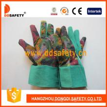 Rainbow Cotton Gardening Band Cuff Dots Garden Glove Dgb114