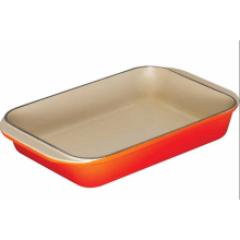 Bandeja opcional del plato del esmalte del hierro fundido con diversos colores