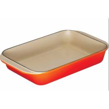 Casseroles à vaisselle en émail en fonte facultative avec différentes couleurs