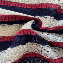 Fancy Nylon Cotton Poly Lace Fabric