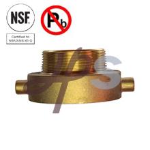 Raccord de tuyau d'incendie en laiton certifié NSF