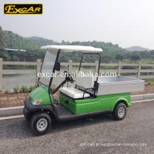 Carrinho de golfe verde dos assentos do carro 48V 2 da utilidade elétrica de Excar com caixa da carga