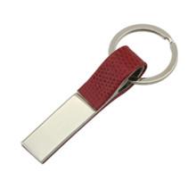 Titular de cuero promocional del cuero de la aleación del cinc con insignia de encargo (F1049C)