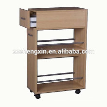 Slidable Wooden Commodity Cabinet Shelf With Drawer