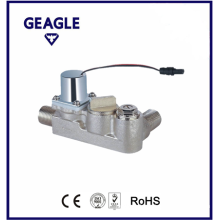 Bi-stable brass solenoid valve-90 dgree with swivel nut