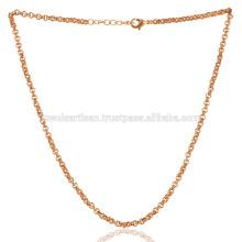 Cadeia de bronze simples de Verão de 18 polegadas para jóias simples e de moda