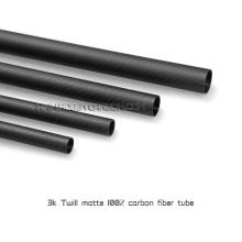 Hochfestes Kohlefaserrohr Twill matt / klar 15mm Carbonrohr
