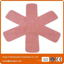 Matelas non tissé de casserole de tissu de polyester 100% d'isolation thermique, protecteur de casserole
