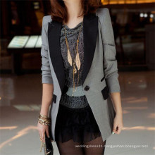 Ladies Shrug Lapel Suit Coat Power Shoulder Leisure Jacket (50020-1)