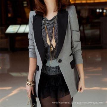 Ladies Shrug Lapel Suit Coat Power Shoulder Leisure Jacket (50020-1)