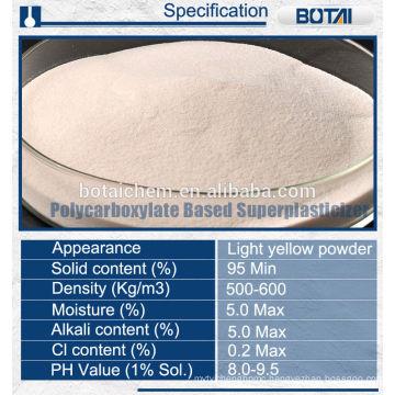 polycarboxylate pce superplasticizer surfactant liquid / powder