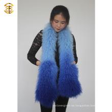 Farbverlauf Farbe Winter Frauen Mongolischen Lamm Pelz Schals Schaf Pelz Schal