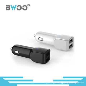 Cargador de coche USB dual con fuente de alimentación para todos los productos electrónicos