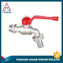TMOK Red aluminum valve handles brass water bibcock ourdoor garden faucet yuhuan zhejiang