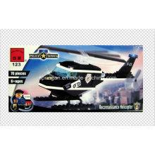 Polizei Serie Designer Patrol Hubschrauber 76PCS Block Spielzeug