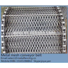 Compound balance acid-base resistant fast freezing food industry used metal wire mesh weave conveyor belt
