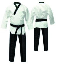 black v neck taekwondo uniform