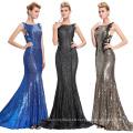 Starzz 2016 Sleeveless Pale Golden Backless Shining Sequins Long Formal Evening Dress ST000072-2