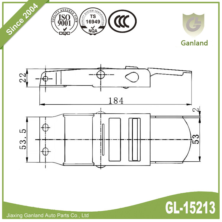 light duty over-center buckle GL-15213