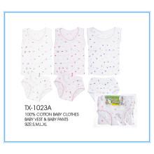 Vestuário infantil 100% algodão / roupas de bebê