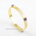 925 серебряные браслеты, 18k золото медь фиолетовый бирюзовый драгоценного камня Браслет ювелирных изделий для женщин