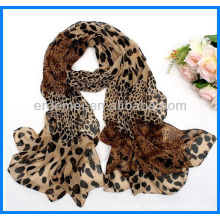 Leopard print custom woven scarf supplier