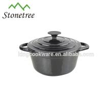 Jogo Eco-Amigável do cookware do ferro de molde do revestimento do esmalte / bandeja do ferro de molde