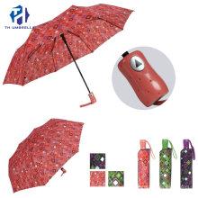 Fashion Lady Folding Umbrella with Printing/New Promotion Outdoor Umbrella