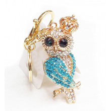 2015 promotional product rhinestone owl keychain cheap keyring wholesale