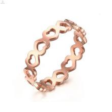Best Selling Stainless Steel Hollow Heart Shape Rings Jewelry