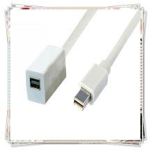 Хорошее качество Белый мини-DPto мини-DP женский удлинитель для Apple LED iMac