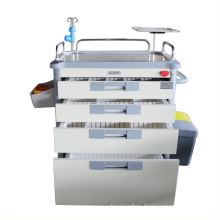 Medical 5 Drawers ABS Emergency Trolley for Sales