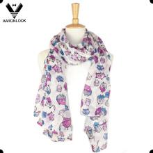 Bufanda de moda de la impresión del buho de la bufanda
