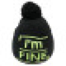 Трикотажная шапочка с трикотажем в логотипе NTD38