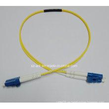 Cable de fibra óptica con conectores LC-LC de un solo modo de Simplex (0.6M)
