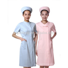 tissu de polyester-coton pour l'uniforme d'infirmière de nouveau style