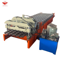 Sheet roll forming glazed tile making machinery