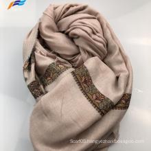 Elegant Muslim Printed Silk Polyester Autumn Square Scarf